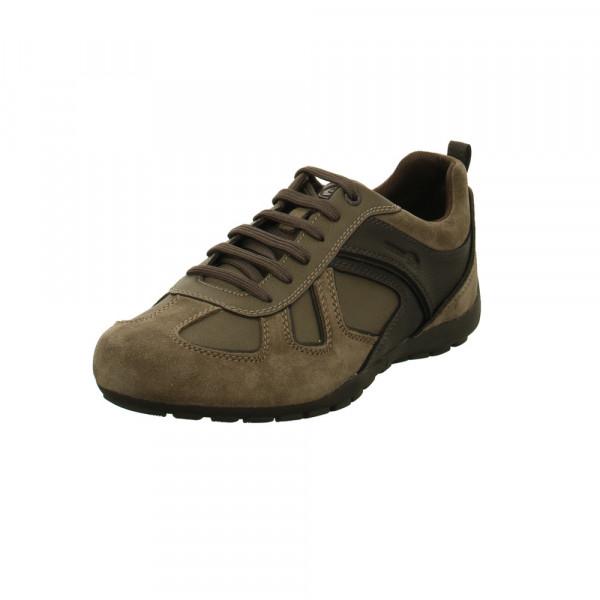 Geox Herren Ravex Graue Leder/Textil Sneaker Grau - Bild 1
