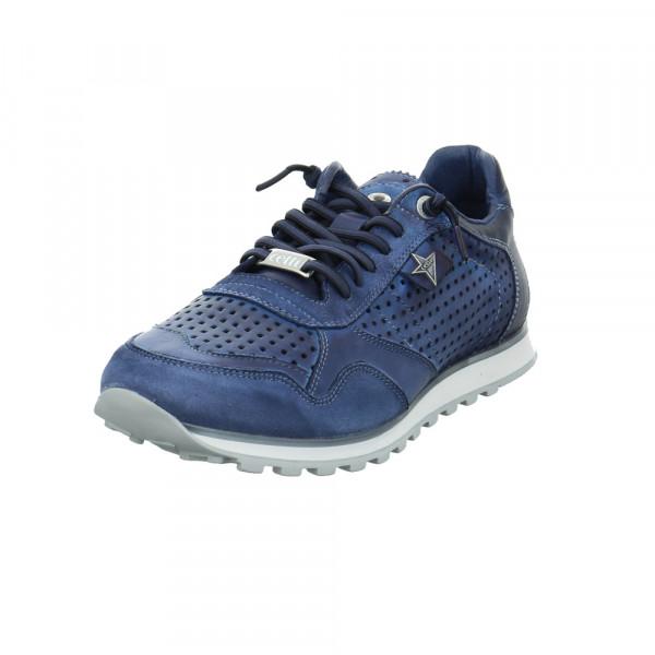 Cetti Herren C-848NAVY2020 Blauer Glatt-/Veloursleder Sneaker Blau - Bild 1