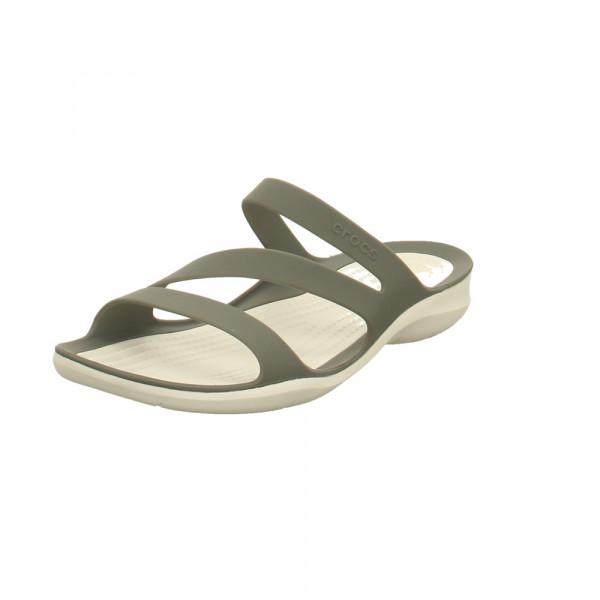 Crocs Damen Swiftwater Sandal W Graue Synthetik Pantolette Grau - Bild 1