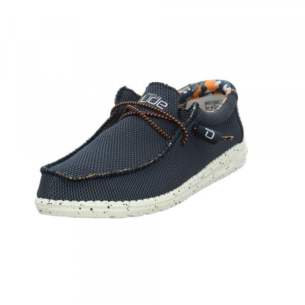 Hey Dude Herren Wally Sox Blauer Textil Sneaker Blau - Bild 1