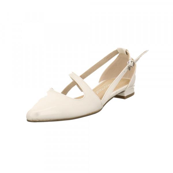 Marco Tozzi Damen 24207-123 Weißer Lack Ballerina Weiß - Bild 1