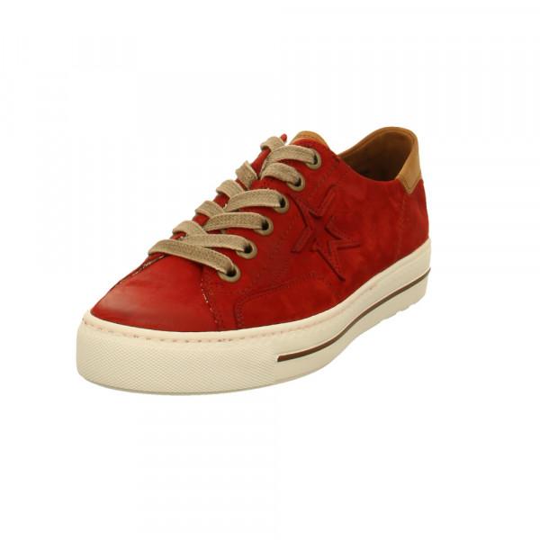 Paul Green Damen 4810-085 Rote Nubukleder Sneaker Rot / Bordeaux - Bild 1