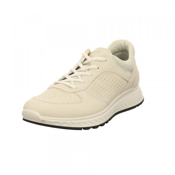 Ecco Herren Exostride M Weißer Leder/Textil Sneaker Offwhite - Bild 1