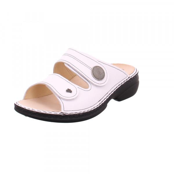Finn Comfort Damen Sansibar 2550/001000 Weiße Glattleder Pantolette Weiß - Bild 1