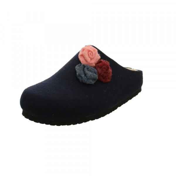 Longo Damen 1032857 Blaue Wollfilz Pantoffel Blau - Bild 1