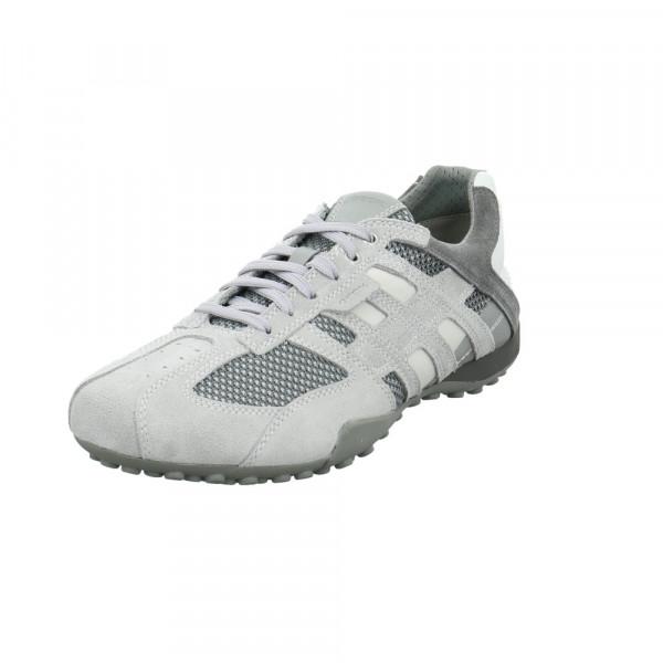 Geox Herren Uomo Snake Grauer Leder/Textil Sneaker Grau - Bild 1
