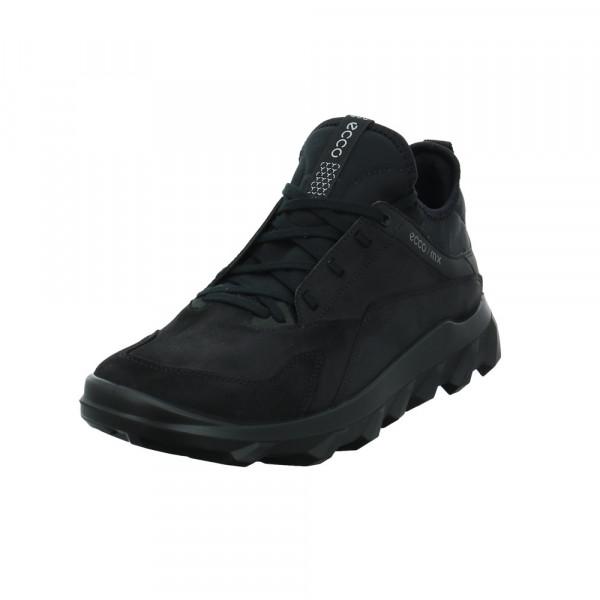 Ecco Herren 820184-2001 Schwarzer Leder/Textil Outdoor Sneaker Schwarz - Bild 1