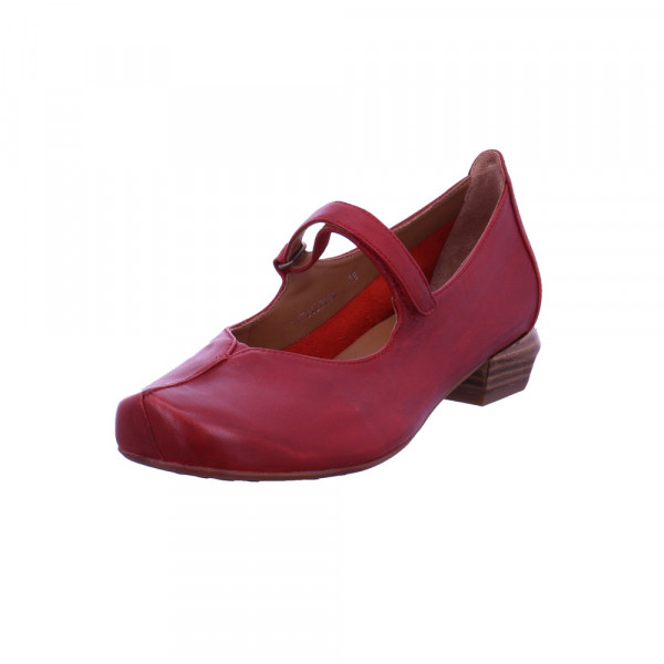 Everybody Damen Glicine Rote Glattleder Ballerina Rot / Bordeaux - Bild 1