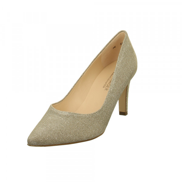 Peter Kaiser Ebby Damen Pumps aus Textil in gold metallic Gold / Silber - Bild 1