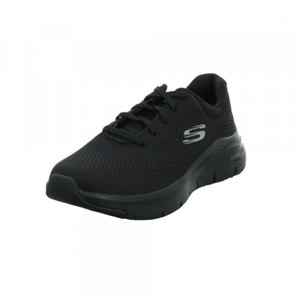 Skechers Damen Arch Fit Sunny Outlook Schwarzer Textil Sneaker Schwarz - Bild 1