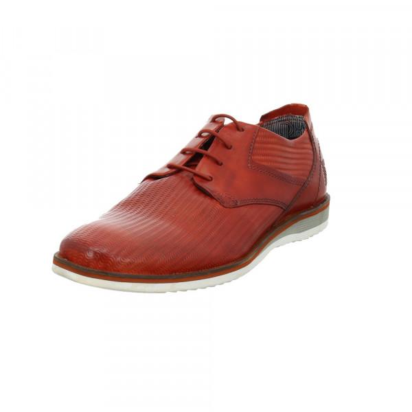 Daniel Hechter Herren Michelino Light Rote Leder Schnürschuhe Rot / Bordeaux - Bild 1