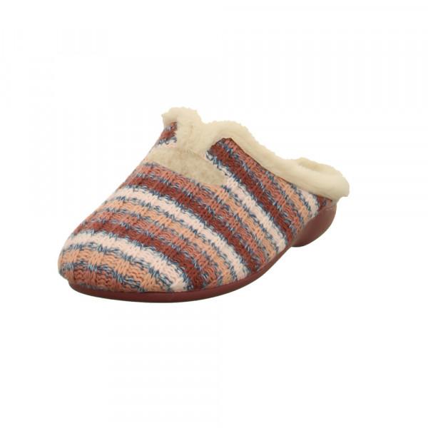 Florett Damen Doreen Roséfarbene Textil Pantoffeln Rosé - Bild 1