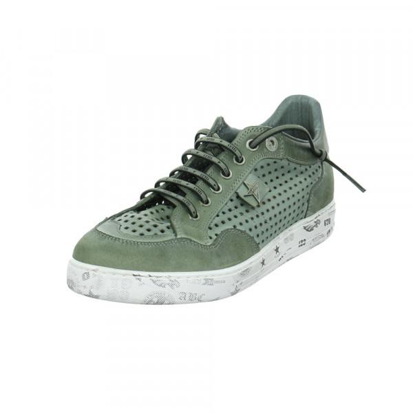 Cetti Herren C-1181-Nature Grüne Glattleder Sneaker Grün - Bild 1