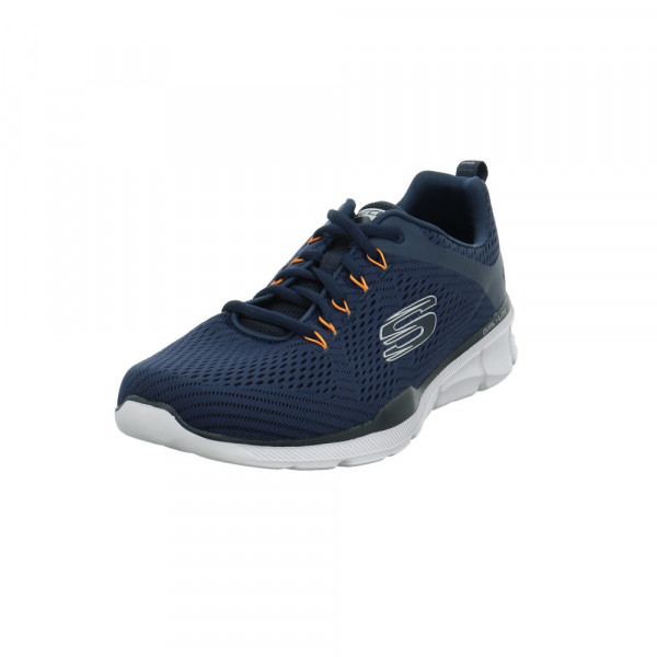 Skechers Herren Relaxed Fit Equalizer 3.0 Blauer Textil Sneaker Blau - Bild 1
