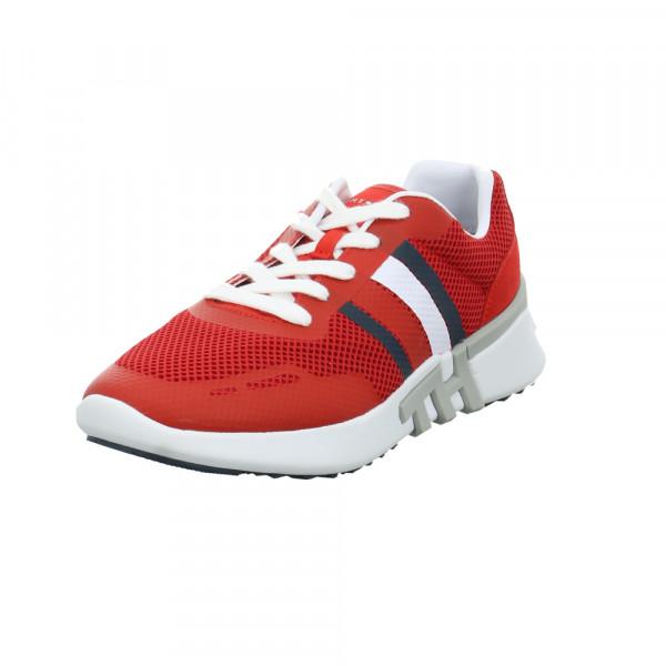 Tommy Hilfiger Herren Lightweight Corporate TH Runner Roter Leder/Textil Sneaker Rot / Bordeaux - Bild 1
